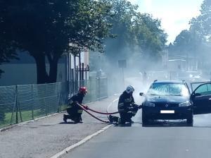 15.07.2018 - Pożar samochodu Wieszowa