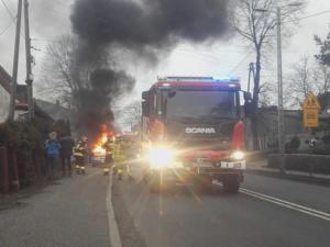 22.03.2019 - Pożar Wieszowa